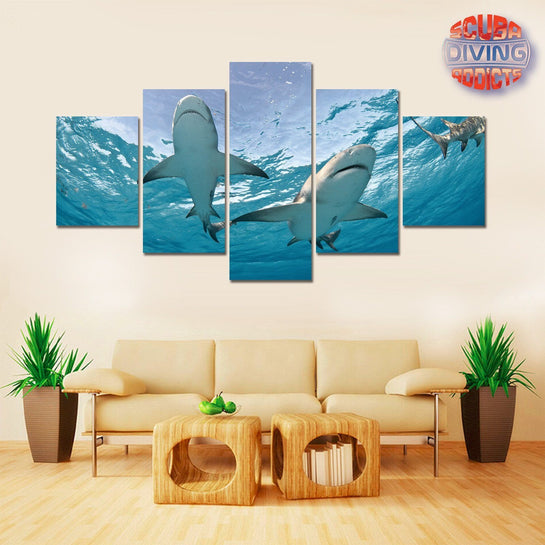 Diver's Playmates 5 Piece Canvas
