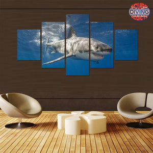 The Great White 5 Piece Canvas