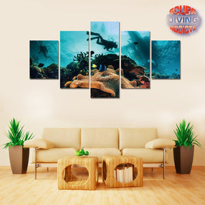 Underwater Escape 5 Piece Canvas - scubadivingaddicts