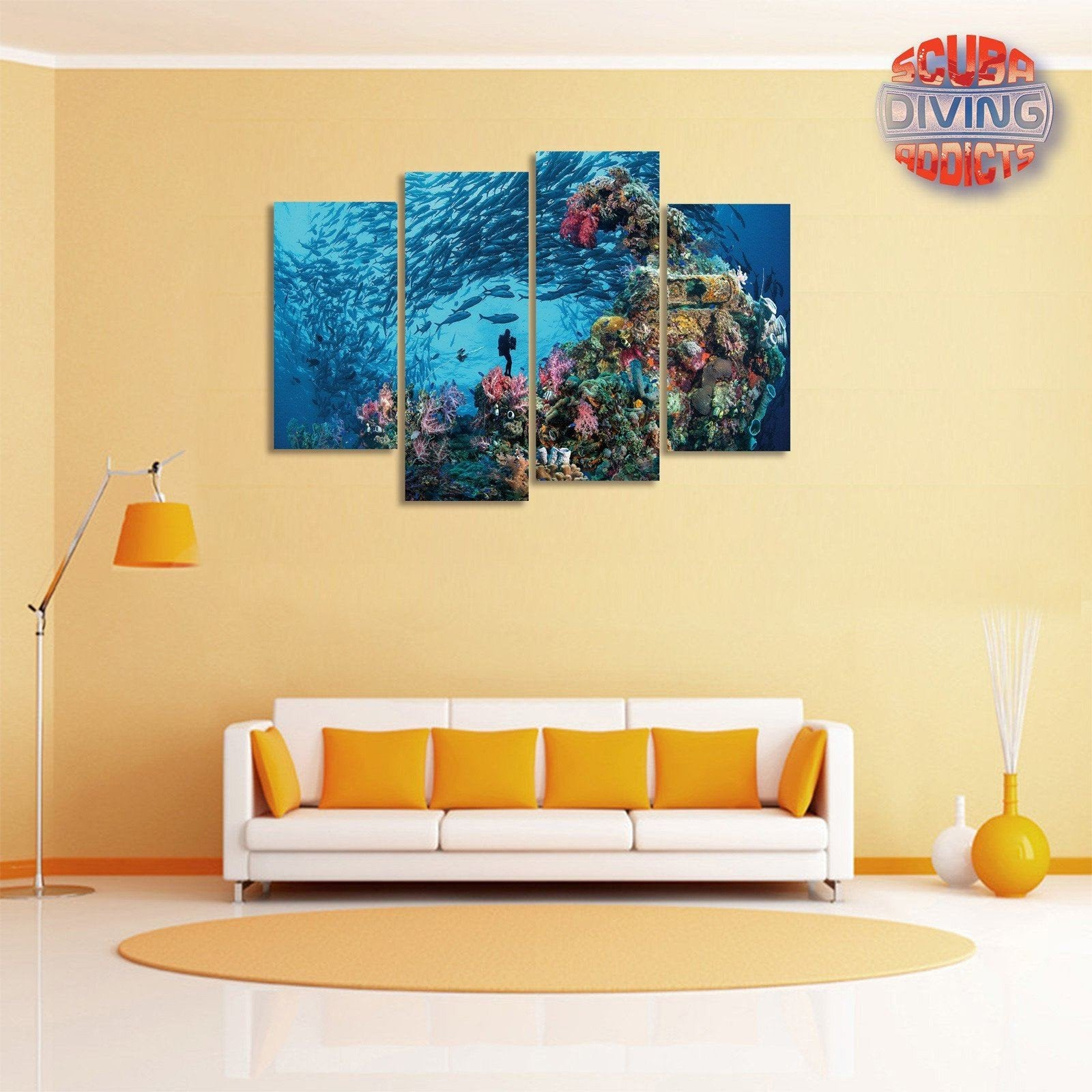 Underwater Explorer 4 Piece Canvas – scubadivingaddicts