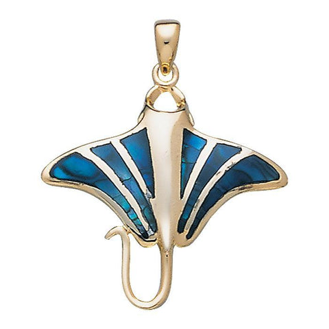 Manta Ray Sterling Silver Necklace