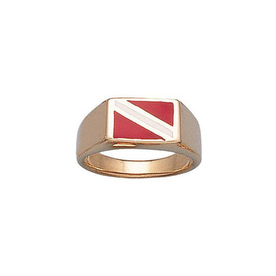 Dive Flag Ring - scubadivingaddicts