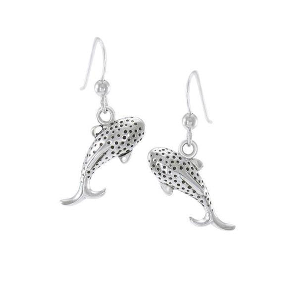 Whale Shark Sterling Silver Hook Earrings