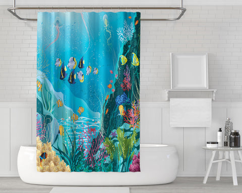Image of Azure Ocean Shower Curtain