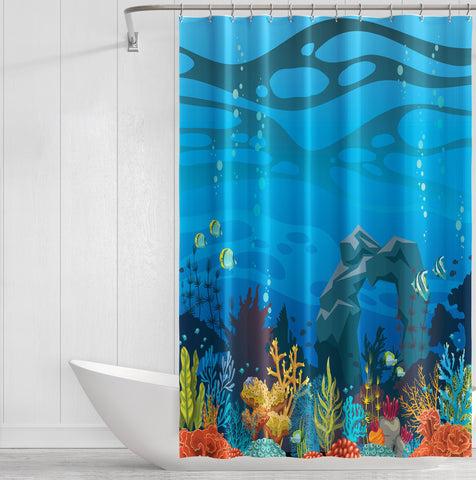 Image of Underwater Paradise Shower Curtain