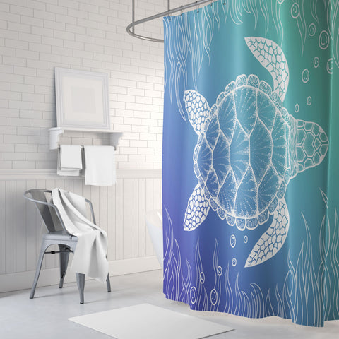 Turtle Paradise Shower Curtain
