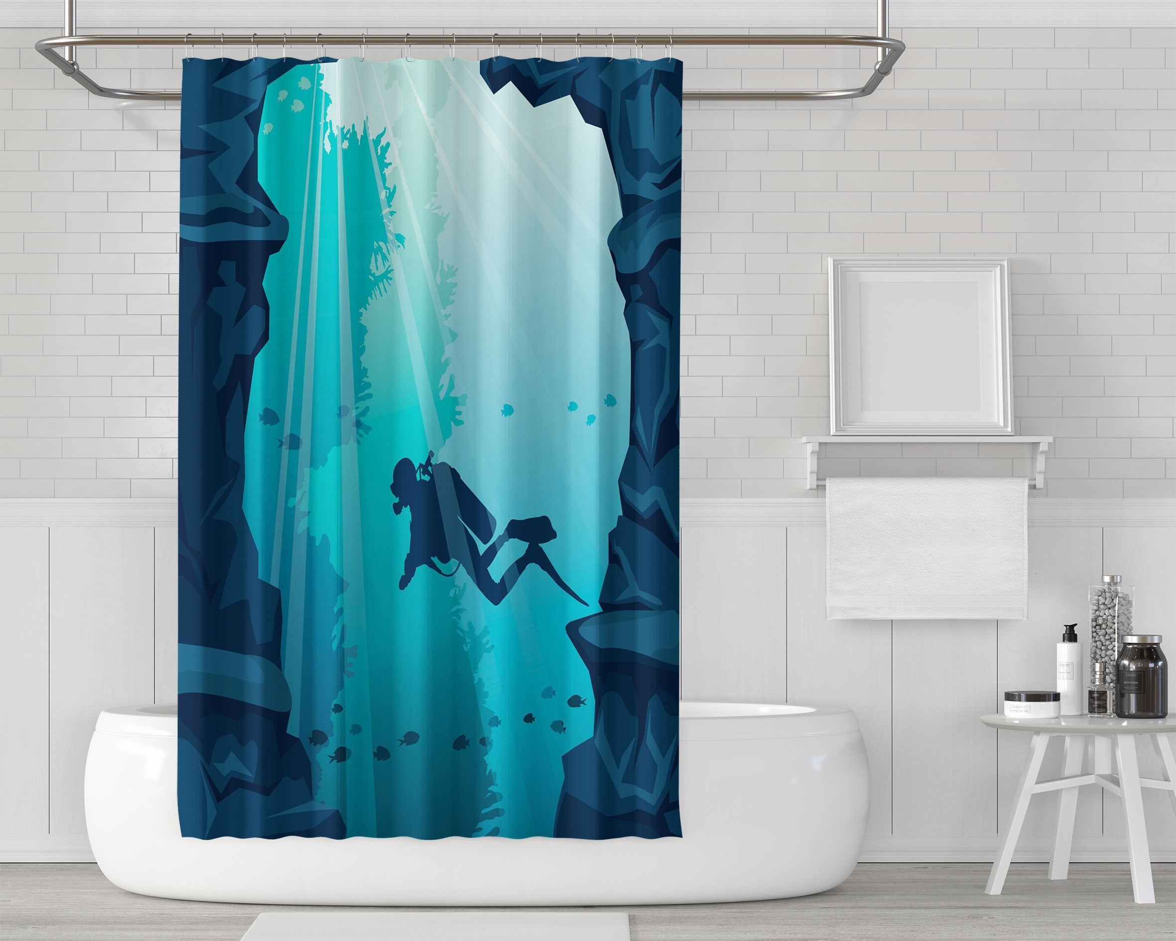 studio shower products curtain devonian shark cladoselache