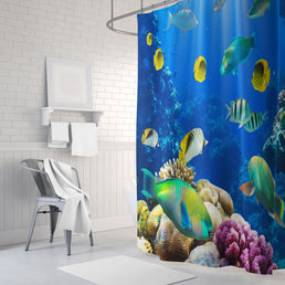 Underwater World Shower Curtains