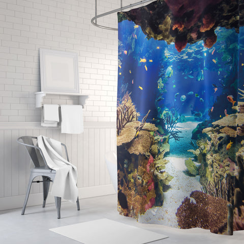 Divers' Playground Shower Curtain