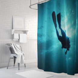 Underwater Escape Shower Curtains
