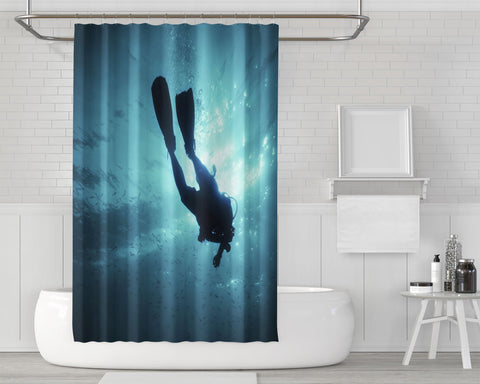 Image of Underwater Escape Shower Curtain
