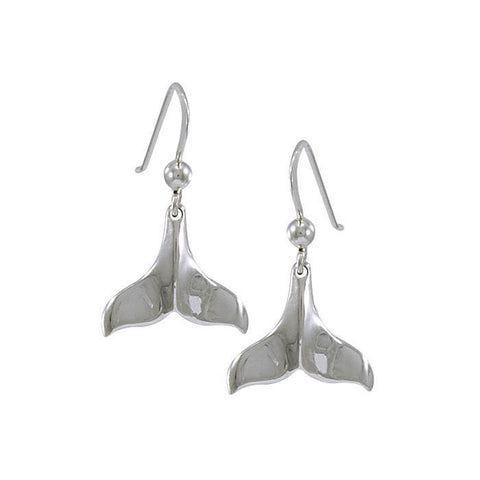 Whale Tail Sterling Silver Hook Earring - scubadivingaddicts
