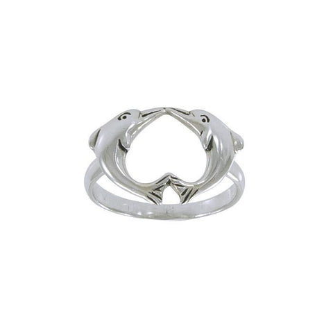 Image of Love Dolphins Sterling Silver Ring