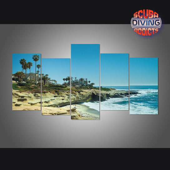 La Jolla Shores in San Diego - California 5 Piece Canvas