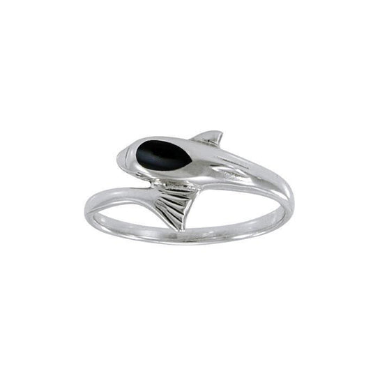 Dolphin Sterling Silver Ring