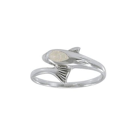 Image of Dolphin Sterling Silver Ring