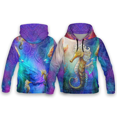 Image of Seahorse Dream All Over Print Hoodies