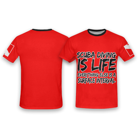 Image of Scuba Diving is Life All Over Print T-Shirt