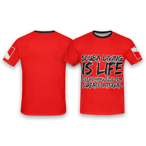 Scuba Diving is Life All Over Print T-Shirt