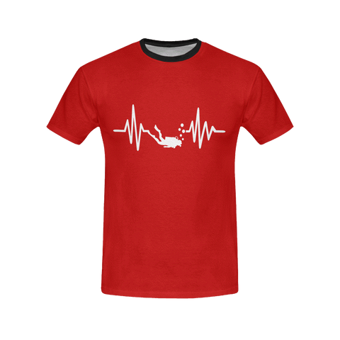 Image of Scuba Diving Addicts Heartbeat All Over Print T-Shirt