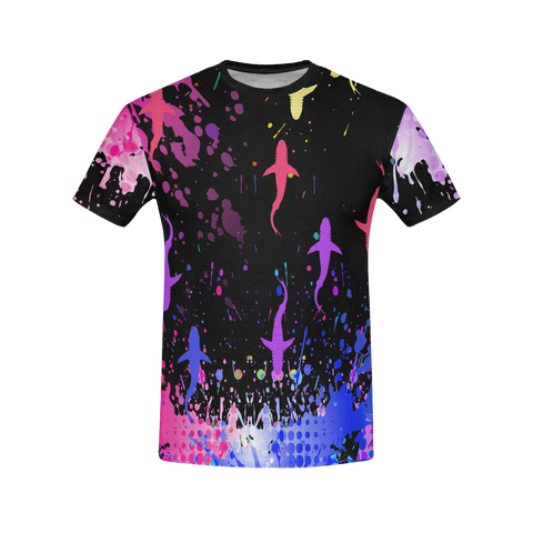 Image of Colourful Sharks Men's T-Shirt