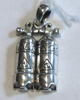 Dive Tanks Sterling Silver Necklace