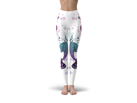 Image of Anchor Mermaid Leggings