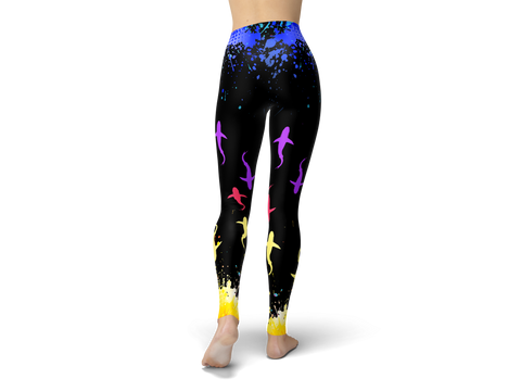 Colorful Sharks Leggings