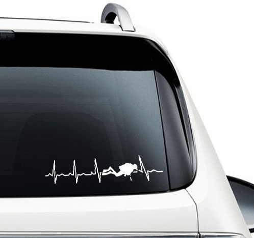 Scuba Is My Heartbeat - Decal