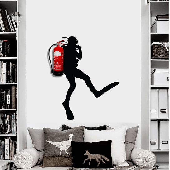 Office Diver Decal
