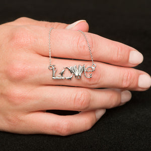 Sterling Silver Love Scuba Necklace