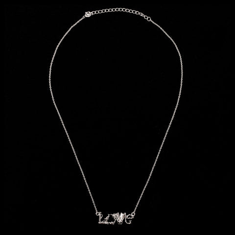 Image of Sterling Silver Love Scuba Necklace