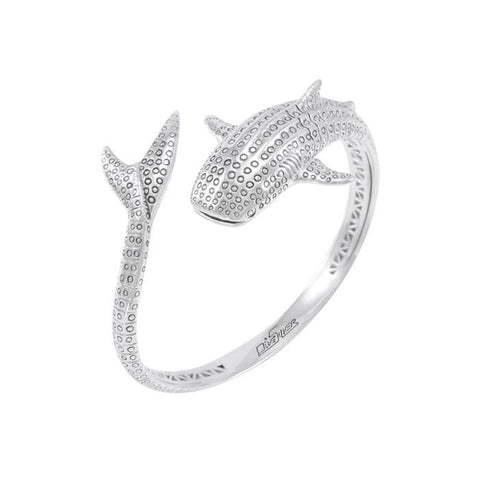 Image of Whale Shark Sterling Silver Bracelet - scubadivingaddicts