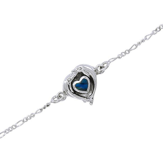 Dolphin Love Sterling Silver Anklet