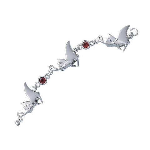 Image of Ray Sterling Silver Link Bracelet
