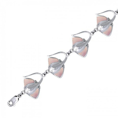 Image of Manta Ray Sterling Silver Bracelet