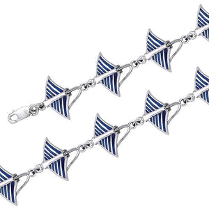 Eagle Ray Sterling Silver Link Bracelet