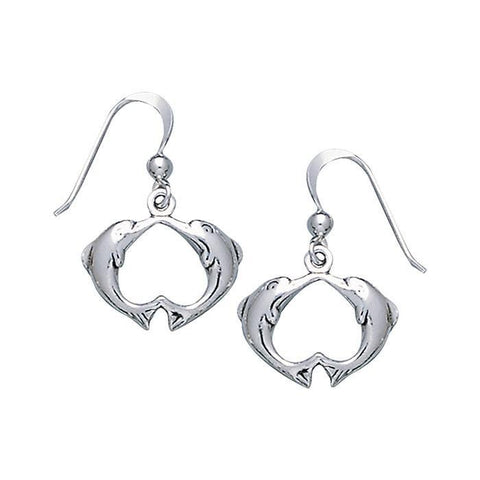 Love Dolphins Sterling Silver Earrings
