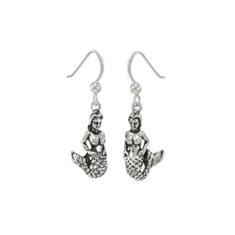 Sea Maiden Sterling Silver Earrings