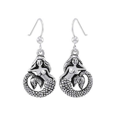 White Mermaid Sterling Silver Earrings - scubadivingaddicts