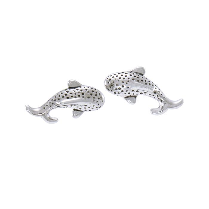 Whale Shark Sterling Silver Post Earrings
