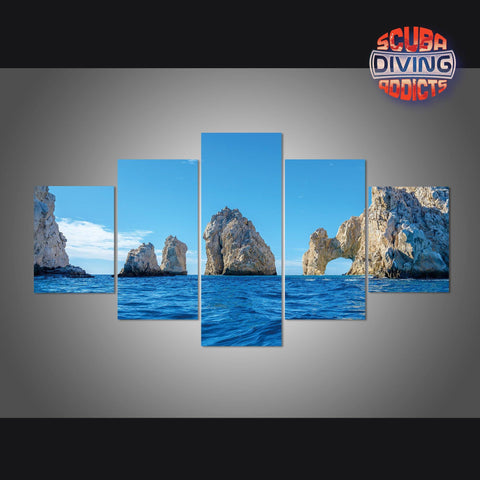 Image of The Arch Point at Cabo San Lucas 5 Piece Canvas