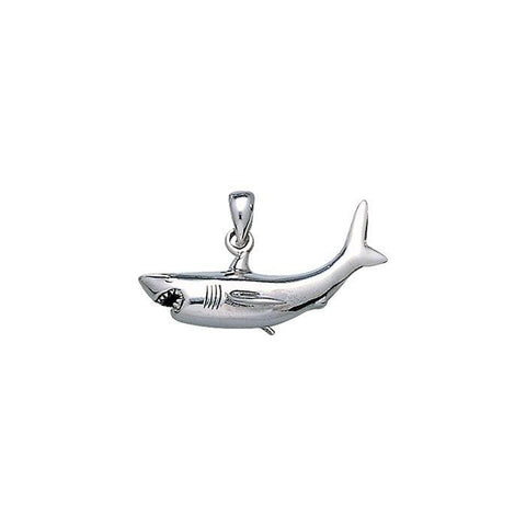 Image of Great White Shark Sterling Silver Necklace