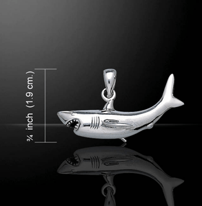 Great White Shark Sterling Silver Necklace