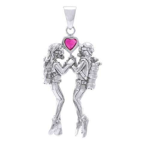 Image of Undersea Lovers Sterling Silver Necklace - scubadivingaddicts