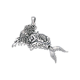 The Sleeping Mermaid Sterling Silver Pendant