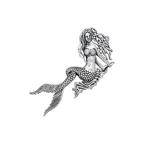 Image of Seaside Mermaid Movable Sterling Silver Necklace