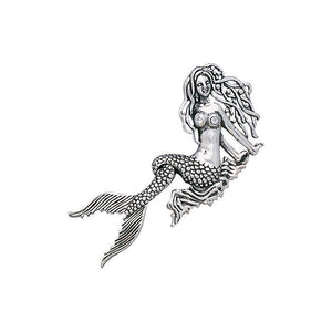 Seaside Mermaid Movable Sterling Silver Necklace