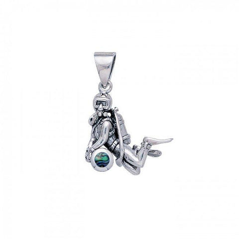 Image of Treasure Diver Sterling Silver Necklace