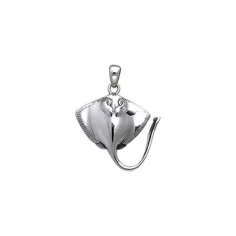 Image of Inlaid Stingrays Sterling Silver Necklace